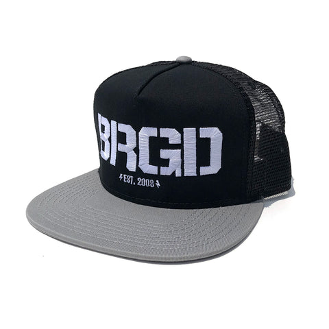 BRGD Logo Trucker Hat - Grey/Black