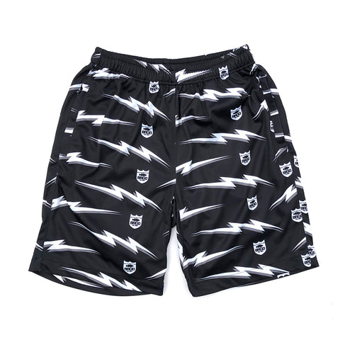 Bolt Shield Pattern Dry Shorts - Black