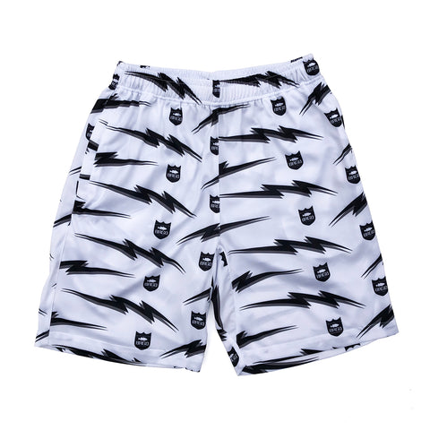Bolt Shield Pattern Dry Shorts - White