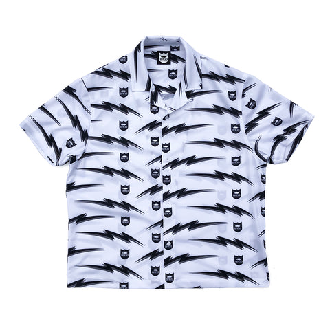 Bolt Shield Pattern Dry Shirts - White