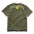 Shield and Wordmark Tee - Military Green/Yellow