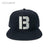 B Logo Snapback Hat - Black/Silver [EXCLUSIVE]