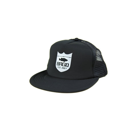 Shield Logo Foam Trucker Hat - Black/Black