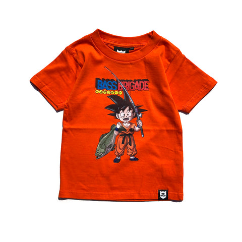 Bass Brigade x Dragon Ball Goku Kids Tee - Orange