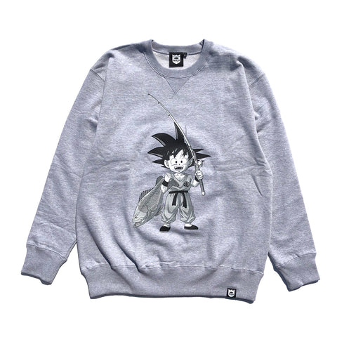 Bass Brigade x Dragon Ball Goku Sweatshirt - Heather Grey