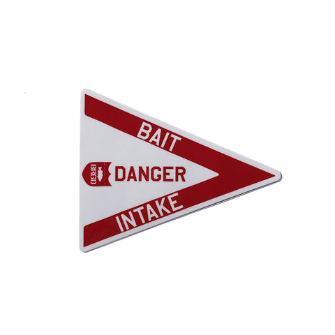 "Danger Intake 4""×3"" Sticker - Red"
