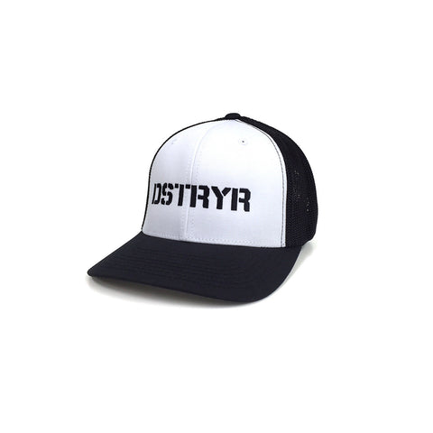 DSTRYR Flexfit Trucker Hat - White/Black