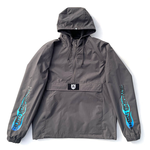BRGD Flame Anorak Jacket - Graphite/Blue