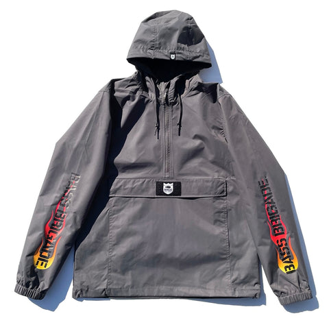 BRGD Flame Anorak Jacket - Graphite/Red