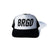 Flame Brgd Logo Trucker Hat - White/Black