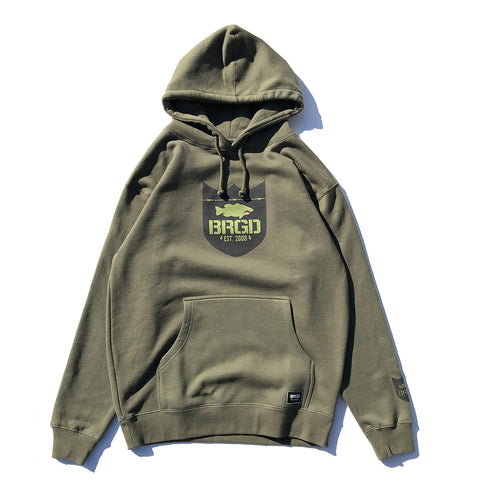 Fighter Shield Pullover Hoodie - Army