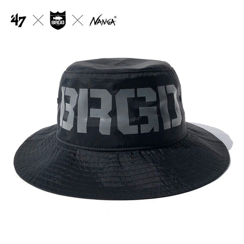 `47 × NANGA × Bass Brigade Bucket - Black/Grey