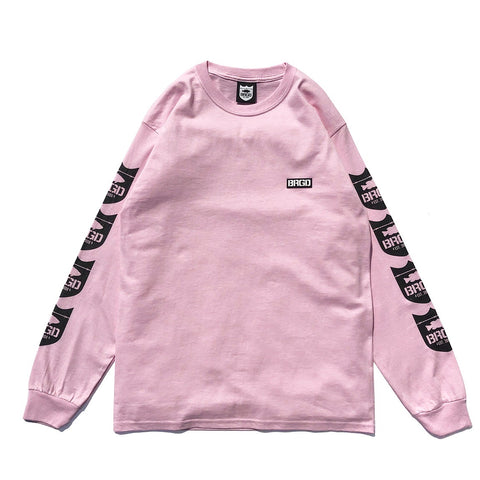 4 Shield L/S Tee - Light Pink