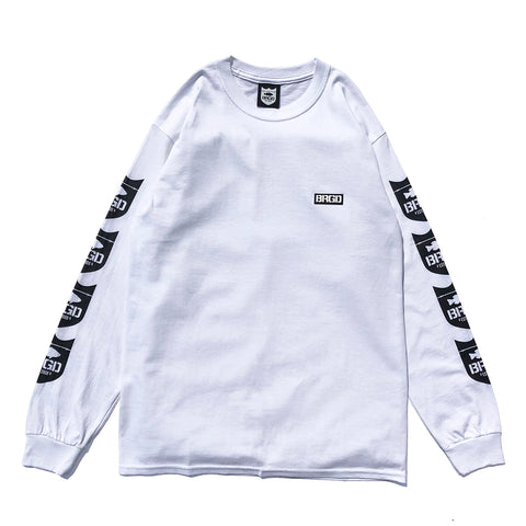 4 Shield L/S Tee - White