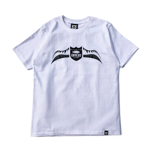 Fighter Shield Tee - White/Grey