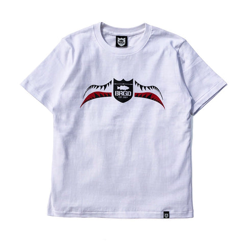 Fighter Shield Tee - White/Red