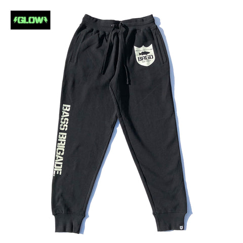 GLOW Classic Logo Sweat Pants - Black/Glow