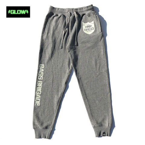 GLOW Classic Logo Sweat Pants - heather Grey/Glow
