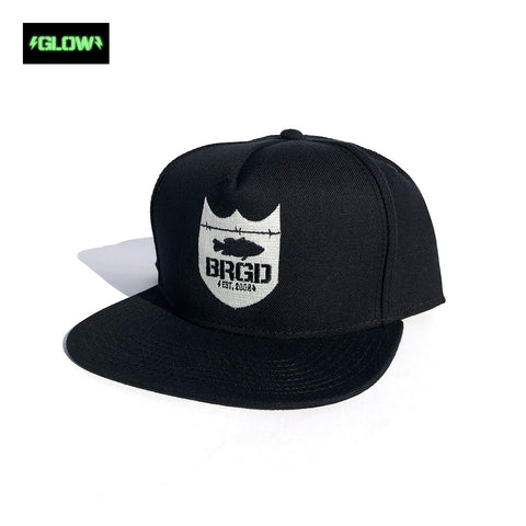 GLOW Shield Logo Snapback Hat - Black/Glow