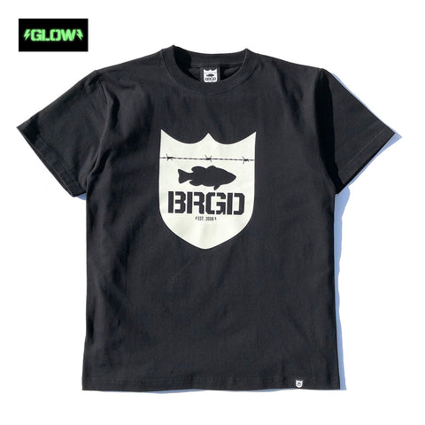 GLOW Shield Logo Tee - Black/Glow