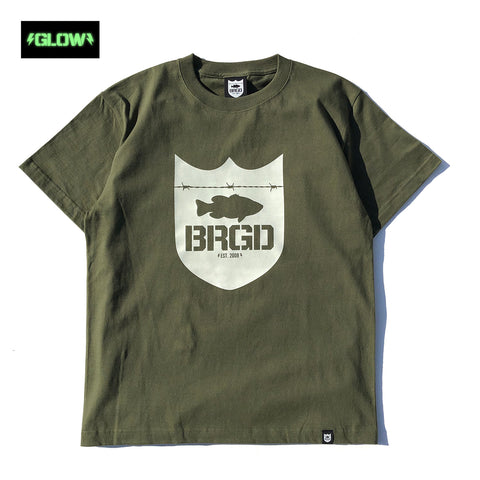 GLOW Shield Logo Tee - City Green/Glow