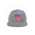 Shield Logo Gradient Snapback Hat - Silver/Sunset