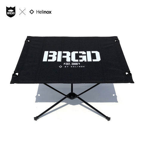 Helinox × BASS BRIGADE TACTICAL TABLE M - BLACK/WHITE