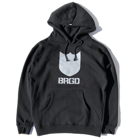 Bold Shield BRGD Pullover Hoodie - Black/Charcoal