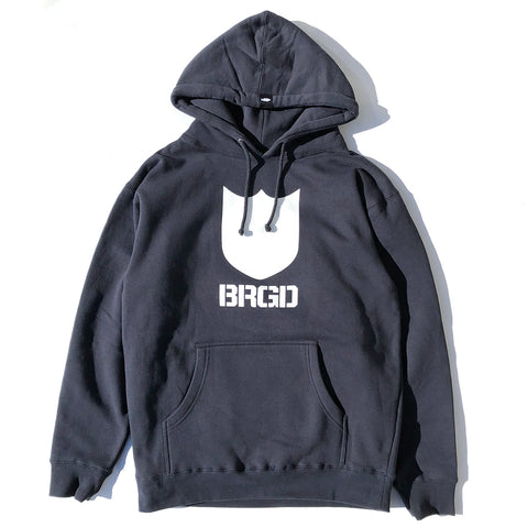 Bold Shield BRGD Pullover Hoodie - Navy/White