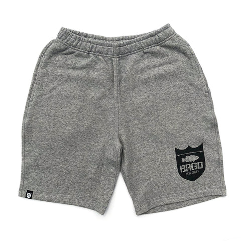 Shield Logo Sweat Shorts - Heather Grey