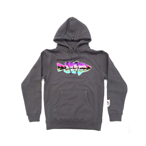 Wavy Bass Pullover Hoodie - Charcoal