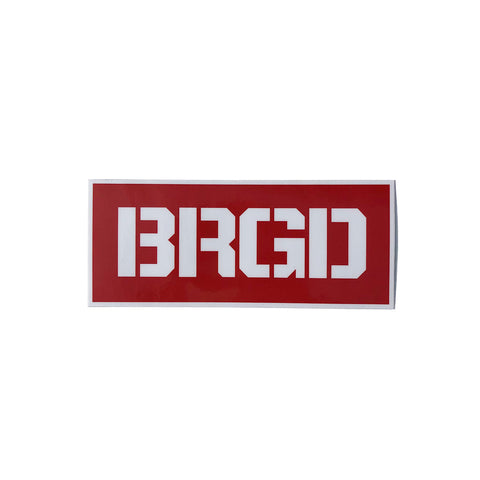 "Brgd Red Box 2""×5"" Sticker - Red"