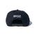 B-Bolt Snapback Hat - Black/White