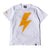 Bolt Tee - White/Yellow