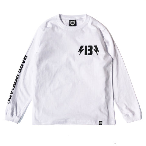 B-Bolt L/S Tee - White/Black