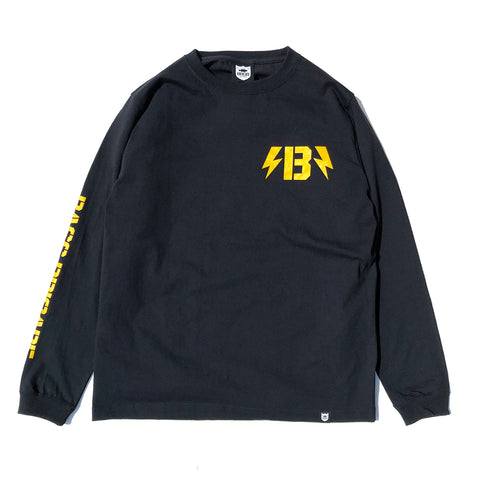 B-Bolt L/S Tee - Black/Yellow