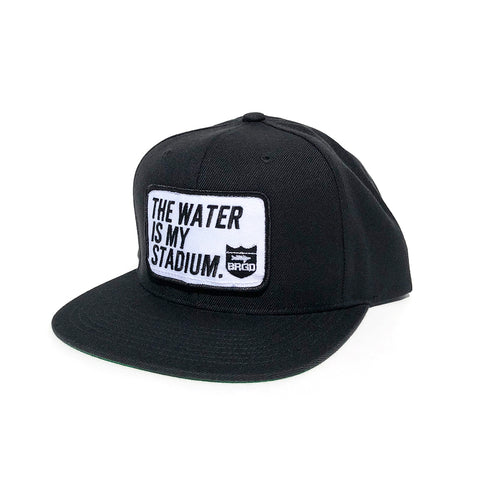 Stadium Patch Snapback Hat - Black