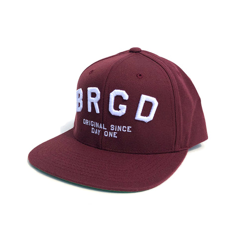 BRGD Arch Snapback Hat - Maroon
