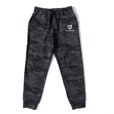 BRGD Sweat Pants - Black Camo/Silver
