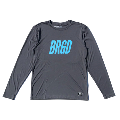 Frame Logo Performance L/S Tee - Iron Grey/Turquoise