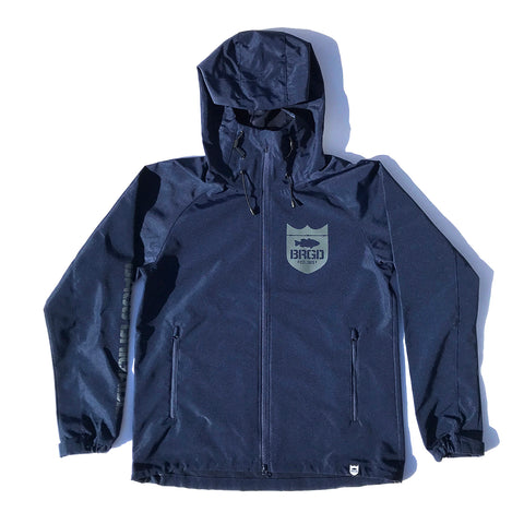 Brgd Classic Logo Mountain Jacket - Navy/Grey