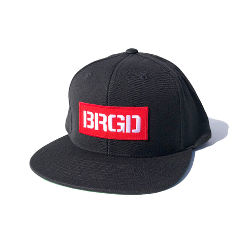 BRGD Red Box Patch Snapback Hat - Black