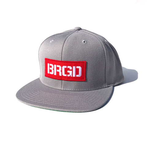 BRGD Red Box Patch Snapback Hat - Silver