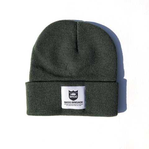 Heavyweight Knit Watcher Cap - Military Green