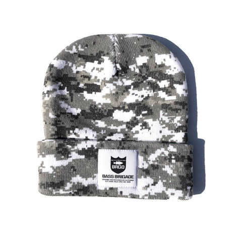 Heavyweight Knit Watcher Cap - Snow Camo
