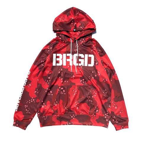 Lake Camo UV Cut Hoodie - Lake Camo Red