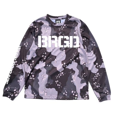 Lake Camo UV Cut L/S Tee - Lake Camo Black