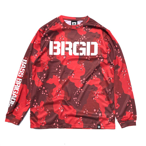 Lake Camo UV Cut L/S Tee - Lake Camo Red