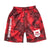 Lake Camo UV Cut Shorts - Lake Camo Red