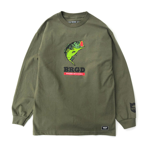 Largie LS Tee - Military Green